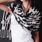 black and white pashmina wrap
